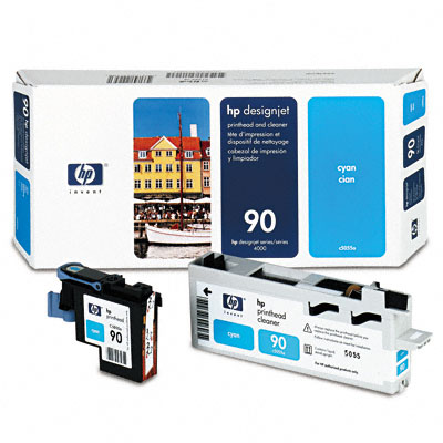 HP-90--C5055A--PRINTHEAD-CLEANER-COLOR-CYAN
