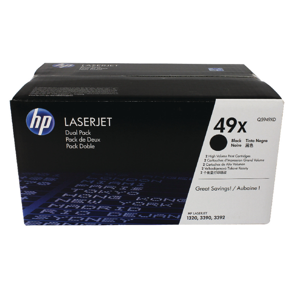 HP 49XD (Q5949XD) CARTUS TONER BLACK-2pack