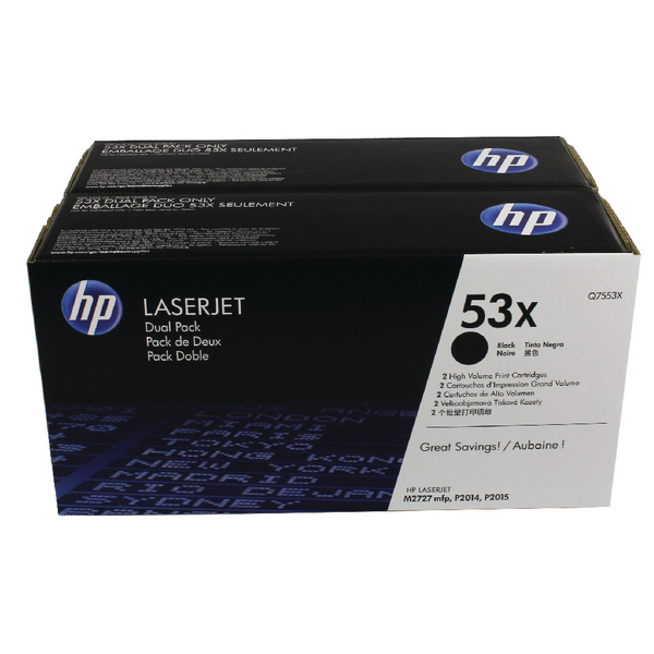 HP 53XD (Q7553XD) CARTUS TONER BLACK-2pack