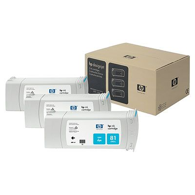HP-81--C5067A--CARTUS-COLOR-CYAN-3pack