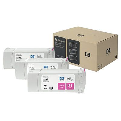 HP-81--C5068A--CARTUS-COLOR-MAGENTA-3pack