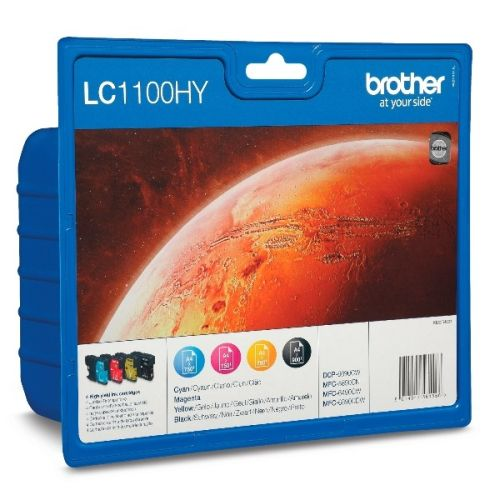 BROTHER LC1100HY SET MULTIPACK 4 CULORI