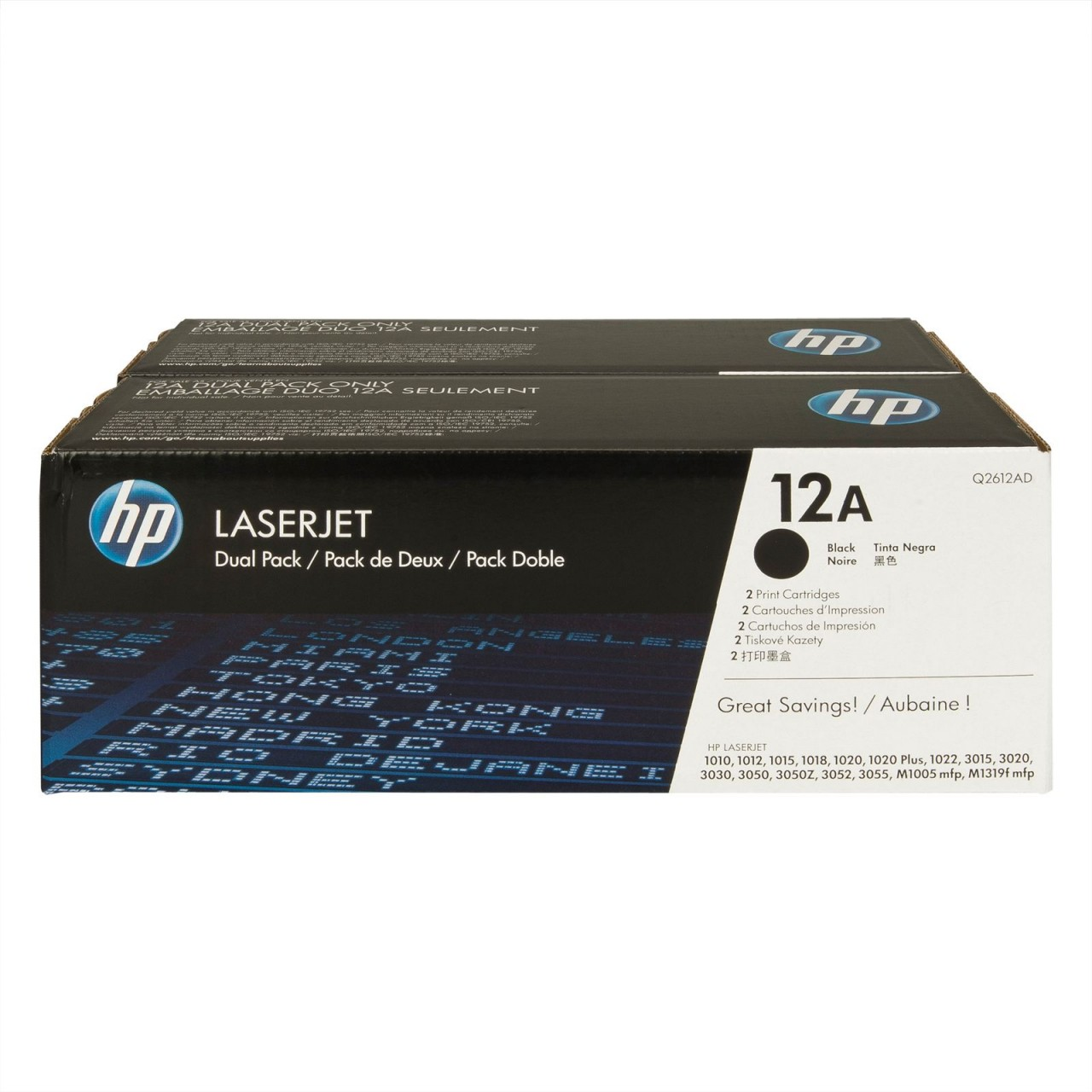 HP 12A (Q2612AD) CARTUS TONER BLACK - 2pack