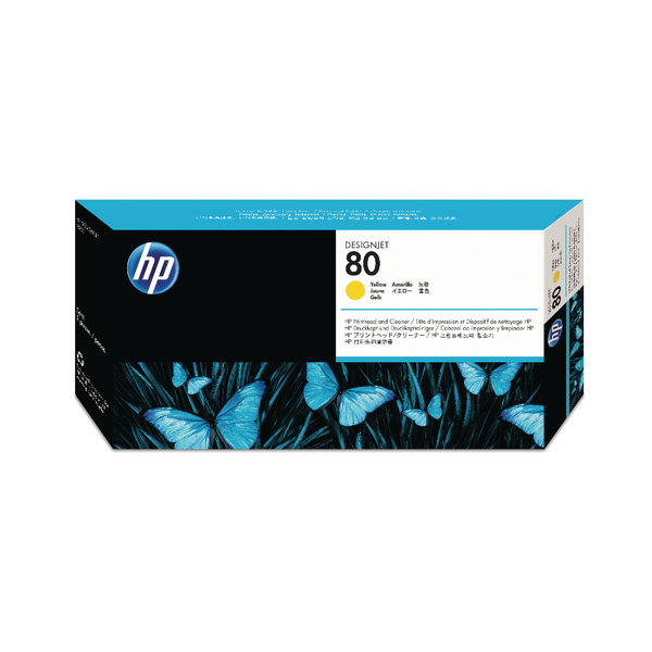 HP-80--C4823A--PRINTHEAD-CLEANER-COLOR-YELLOW