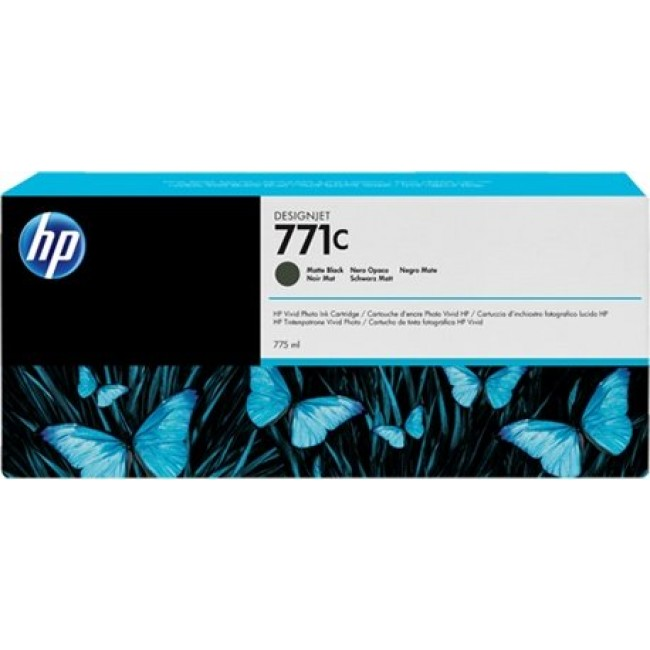 HP-771C--B6Y07A--CARTUS-BLACK-MAT
