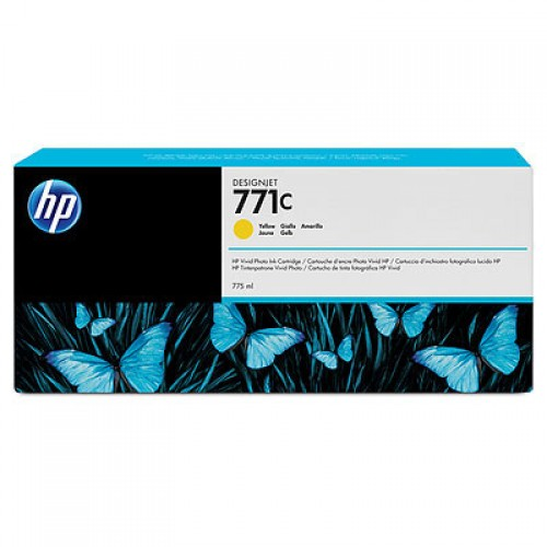 HP-771C--B6Y10A--CARTUS-COLOR-YELLOW