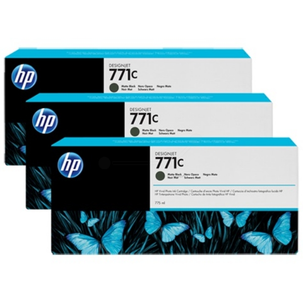 HP-771C--B6Y31A--CARTUS-BLACK-MAT-3pack